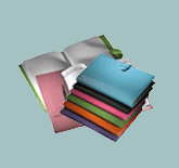 leather planners in a range of bright colors