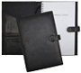 black forever leather planners inside