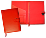red forever leather planners inside