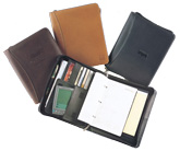 ziparound leather 3-ring organizer planner
